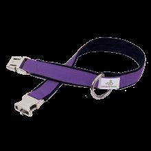 Hundehalsband aus Jeans und uni Gurtband 3,5cm breit