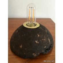 Lampe aus Kaffeesatz mit Schnurschalter I MCL I coffee dregs edition No2 I Größe S I Upcycling von Kaffeesatz I innen golden