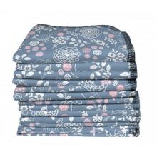 Mehrweg Waschtücher aus Bio-Baumwolle 12er-Pack, Motiv Garten