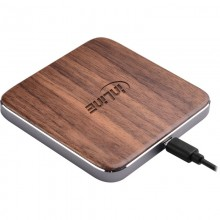 InLine® Qi woodcharge, Smartphone kabellos laden, wireless fast charger, 5/7,5/10W, Walnuss Gehäuse