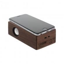 Induktionslautsprecher im Echtholzgehäuse, Walnuss Holz – InLine® woodbrick