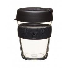 KeepCup Brew Black – Glas Mehrwegbecher für Kaffee & Espresso