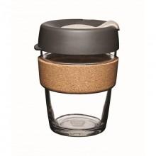 KeepCup Cork Press 340 ml –  Nachfüllbarer Mehrwegbecher aus Glas mit Kork-Manschette
