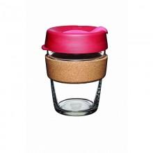 KeepCup Cork Thermal 340 ml –  Nachfüllbarer Mehrwegbecher aus Glas mit Kork-Manschette