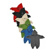 Kinder Fleece Overall mit Handschuhen aus Bio-Schurwolle