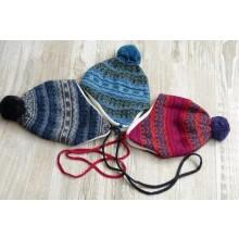 Bommelmütze Sari aus Bio-Wolle & Baumwolle