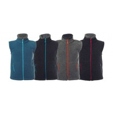 Fleeceweste Colori aus Bio-Wolle