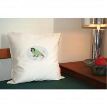 Kissenbezug Verträumter Papagei aus Bio-Baumwoll-Satin mit oder ohne Kissen 40x40 cm