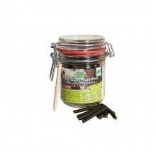 KleePura BioDüngestäbchen für Topf- und Zimmerpflanzen im Drahtbügelglas