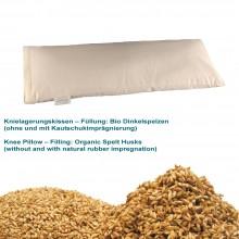 Knielagerungskissen mit Bio-Dinkelspelz-Füllung ohne Kautschuk-Imprägnierung in Bio-Baumwoll-Köper