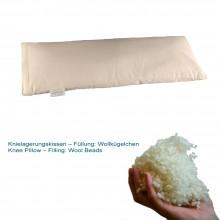 Knielagerungskissen mit Wollkügelchen (kbT) in Bio-Baumwoll-Köper