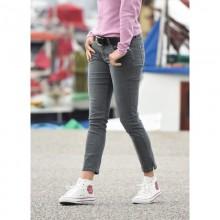 bloomers Knöchel Jeans für Damen, grau