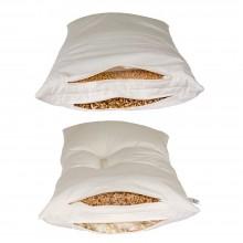 speltex Kombi-Schlafkissen mit zwei Füllkammern, wahlweise Dinkel, Hirse oder Wollkügelchen