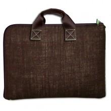 Notebook und Laptop Tasche – Leinen – Schokolade 13 und 15 Zoll