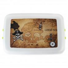 """Biodora Lunchbox & Aufbewahrungsdose aus Biokunststoff – Modell """"Pirat"""""""