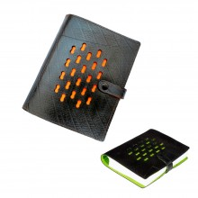 Luxus Notizbuch, Vegan Leder Einband mit Büttenpapier, Ecowings