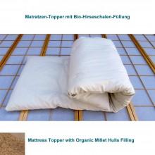 6 cm Matratzenauflagen mit Bio-Hirseschalen, verschiedene Längen & Breiten