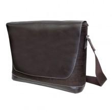 Messenger Bag mit Laptop Fach – Hobo Tasche BIOLAP – Schokolade