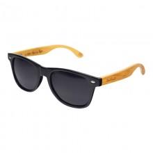 Monoclemanglasses Bamboo Black in Black – Unisex Sonnenbrille aus Bambus
