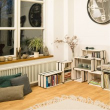 reditum MOVEO. CASA 20.XX – Upcycling-Regal – weiß