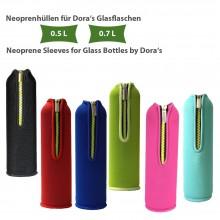 Neoprenhülle für Dora's Glasflasche 0,5 l & 0,7 l