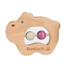 Öko Baby Greifring Nilpferd - FSC® Holzspielzeug, EverEarth®