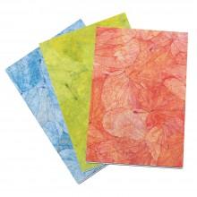 Notizblock Lotus Pond, Einband aus handgeschöpftem Papier