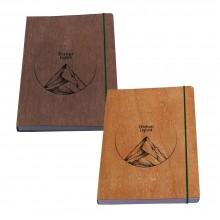 Notizbuch Abenteuer Logbuch mit Holzfurnier-Bucheinband