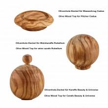 Olivenholz-Deckel für Karaffen Cadus – Alladin – Beauty – Rubellum – Universe