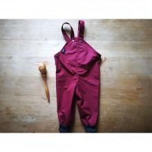 Regenfeste Outdoorhose mit Wollbündchen aus Eta-Proof Bio-Baumwolle, beere