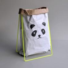 Papiersack Halter Neon mit Papiersack PANDA