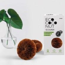 Kokosfaser Topfreiniger & Scheuerschwamm, 2er Pack