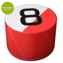 Rotes Sitzkissen »Sail Boat 8« aus (recycelt oder neu) Segeltuch – individualisierbar