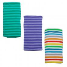 Bio Babydecke – Puckdecke mit Streifen in verschiedenen Farben