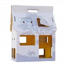 Spielhaus - Puppenhaus MOBILE HOME weiß/gelb