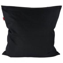 Pure Black Bio Kissenbezug in Schwarz, 80x80 cm