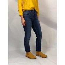 bloomers Regular-fit Blue Jeans mit höherer Leibhöhe und schmaleres Bein