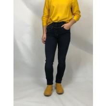 bloomers Regular-fit Bio Jeans mit höherer Leibhöhe und schmalen Beinverlauf, Dunkelblau