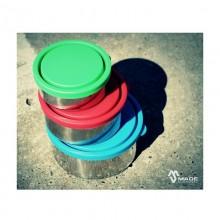 Runde Lunchbox aus Edelstahl, einzeln oder im Set von Made Sustained