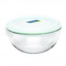 Glasslock Glasschüssel & Salatschüssel mit Deckel, mikrowellengeeignet – 2000 ml