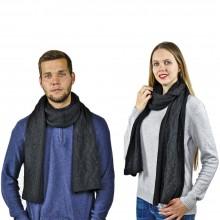 Alpaka Strickschal Soni, Unisex Wollschal mit Zopfstrickmuster