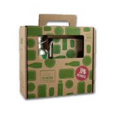 Schulstarter-Set: Trinkflasche CHI2 und Brotdose aus Edelstahl