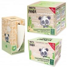 Smooth Panda Kennenlernpaket Hygienepapier aus Bambus