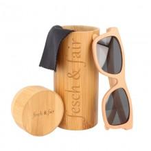Öko Sonnenbrille aus Buchenholz in einer Bambus-Box