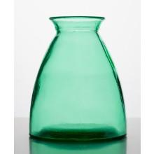 Tischvase 20cm hoch aus 100% Altglas – türkisgrün