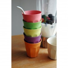 "Öko Trinkbecher Set ""Cupful of Colours"" M 6er-Set – Raw Earth Collection"