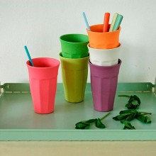 "Öko Trinkbecher Set ""Cupful of Colours"" XL 6er-Set – Raw Earth Collection"