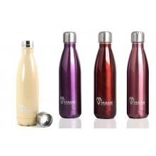 Made Sustained Edelstahlflasche in Glanzoptik 500 ml – Knight Bottle