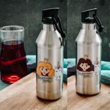Kinder Trinkflasche »Prinzessinnen Mahl« – Edelstahl doppelwandig