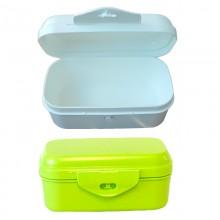 Vegane Lunchbox mit Scharnierverschluss aus Biokunststoff
